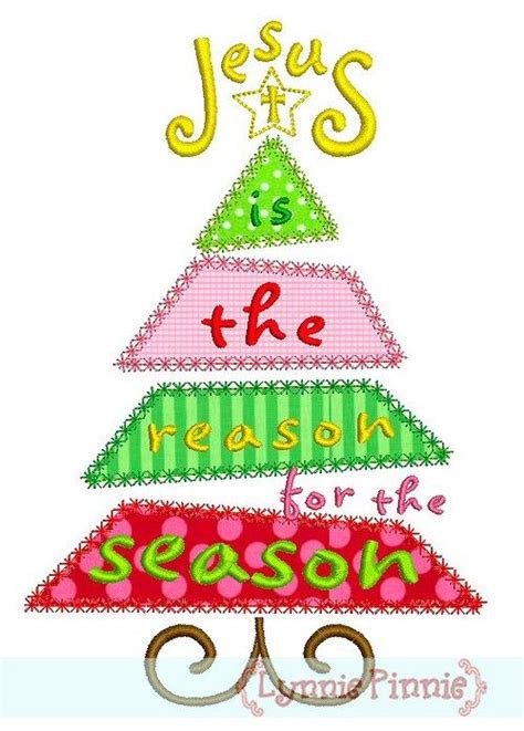 reason for christmas trees embroidery designs jesus is the reason for the season tree satin and deco 4x4