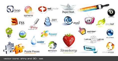 cool  dimensional crystal effect icon vector graphic