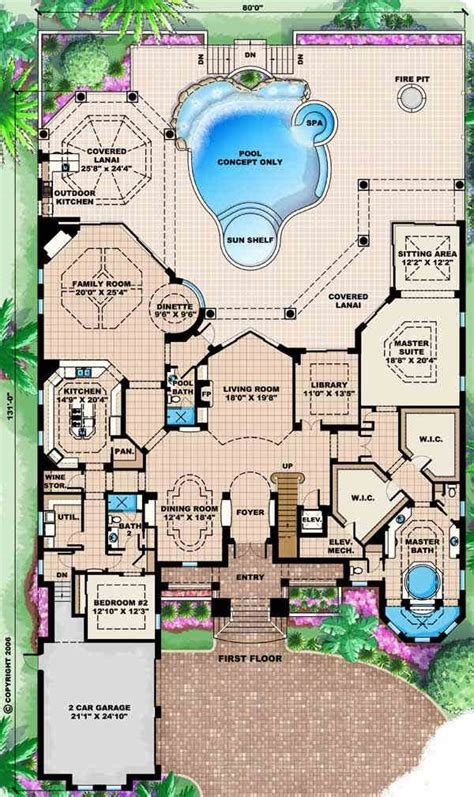 wwwluxury2bedroomensuitegreatroomhomeplanscom mediterranean house plan 4 bedrooms 1 bath 6197 sq ft plan 55 163