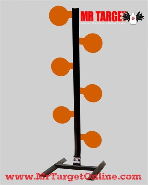9ft center tree at target pistol dueling tree reactive shooting target by mr target