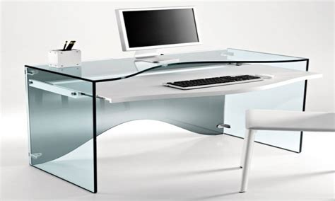 Modern Glass Desks with Modern Glass Desks Modern Glass Desks For Work Creative Desk Modern Glass Computer Desk Glass