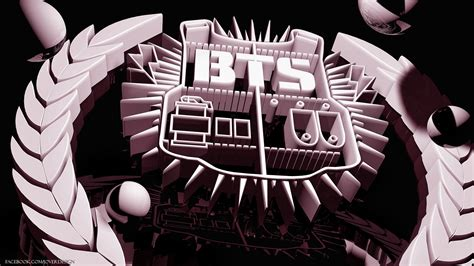 bts symbol wallpaper bts 3d logo wallpaper by jover de castro