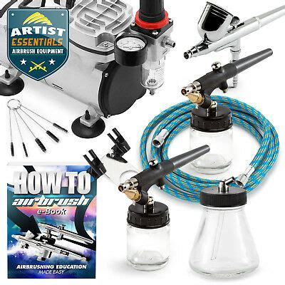 airbrush kit gravity siphon feed air compressor crafts