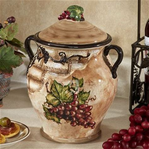 italian style kitchen canisters tuscan view grape design biscotti jar design jars and