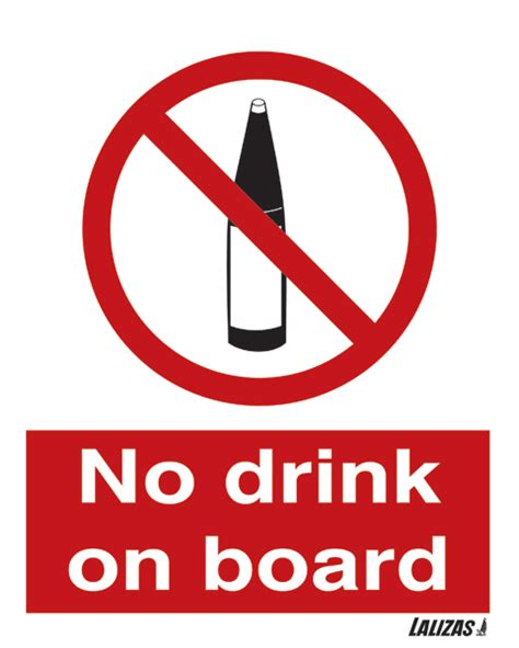 lalizas imo signs eating drinking area lalizas imo signs no drink on board
