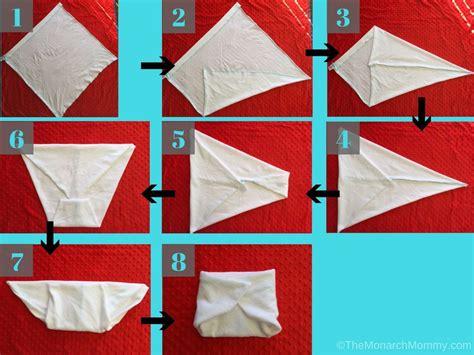 origami nappy folding flat diapers the kite fold themonarchmommy