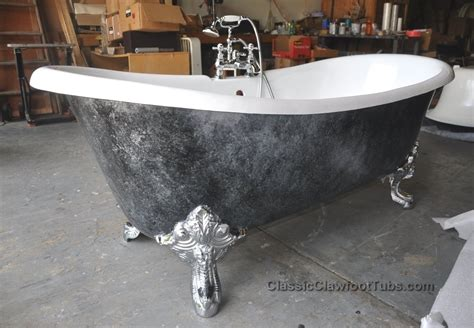 cast iron clawfoot bathtubs 71 quot cast iron double ended slipper clawfoot tub w imperial