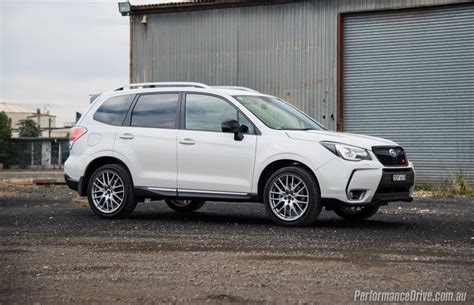 subaru forester 2016 black 2016 subaru forester ts sti review video performancedrive