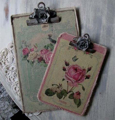 How To Decoupage A Clipboard - 97 best images about shabby chic crafts printables