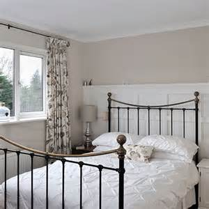Wall behind the bed to add depth without a busy pattern or colour