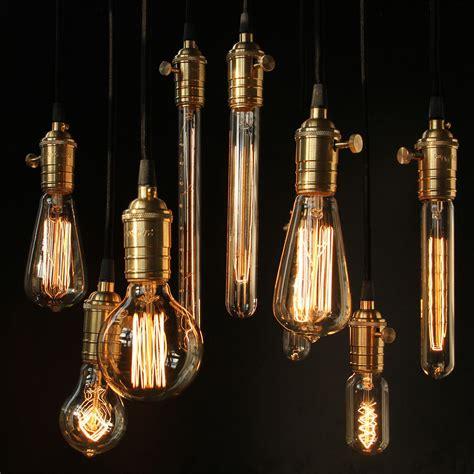 Tungsten Filament Vintage E27 Bulb Pendant Light Blub 110v Vintage Light Bulb Pendant