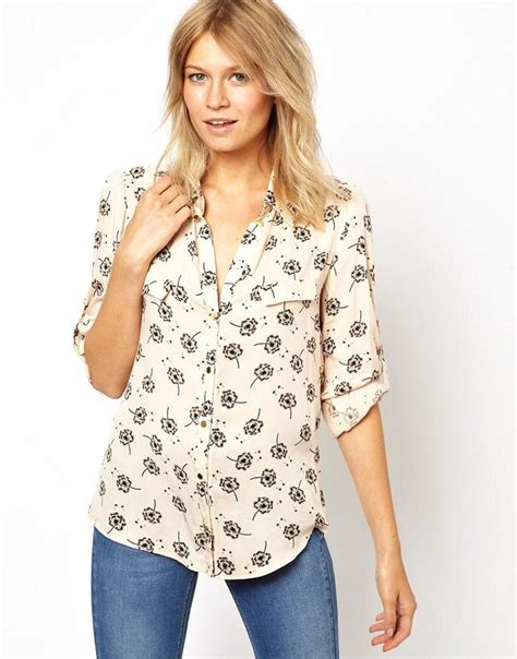 Casual Blouse dandelion flower printing casual blouse leisure
