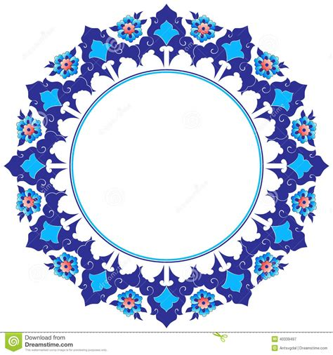 what elements defined ottoman art frame with flowers of ottoman art stock vector image