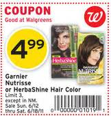 garnier hair color coupon 3 1 garnier herbashine coupon cheap at walgreens