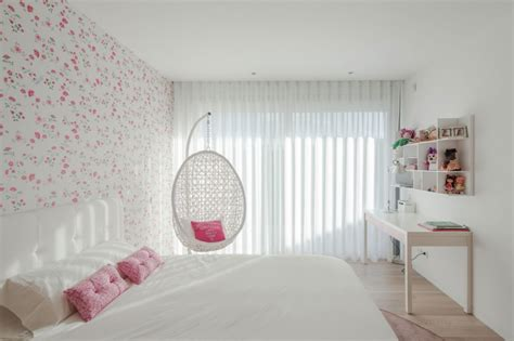 cool girl bedroom ideas cool white teenage girl bedroom with modern floral wallpaper and white desk also