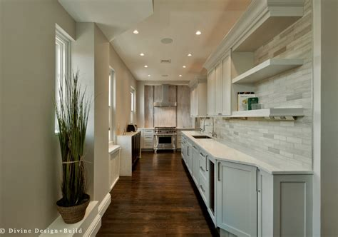 long kitchen designs long narrow kitchen design