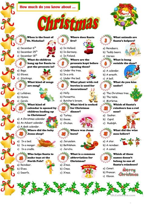 printable christmas personality quiz christmas quiz worksheet free esl printable worksheets