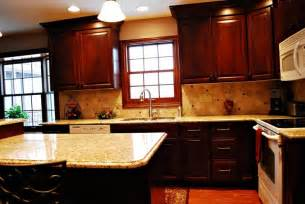 venetian gold granite amp cherry cabinets kitchen