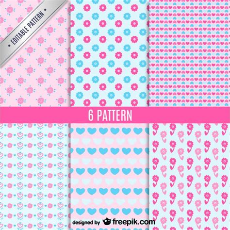 download pattern cute cute seamless patterns vector set vector free download