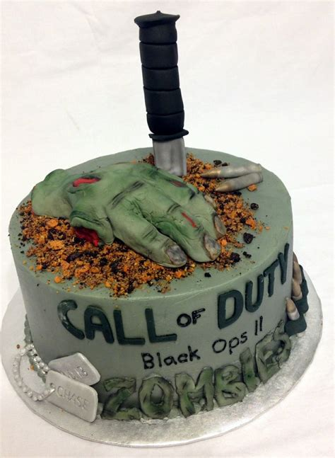 zombie themed birthday cakes a call of duty zombies themed birthday cake custom