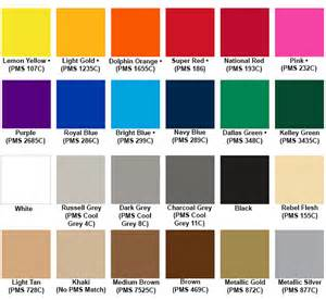 the color white within a indicates heat transfer ink colors color chart swatches