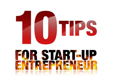 The 10 Entrepreneur 1 start up tips creatick marketing