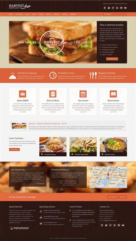 theme joomla themeforest harvest restaurant food joomla theme by webunderdog