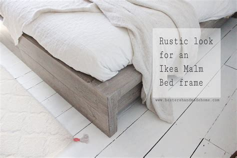 ikea malm bed hack ikea hack rustic look for a malm bedframe hester s