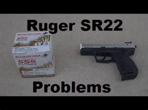 ruger sr22 problems youtube
