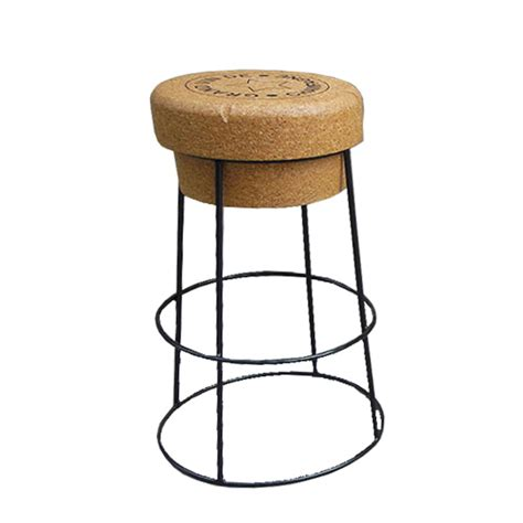 Wine Cork Bar Stools by Novelty Chagne Cork Bar Stool With Black Steel Legs