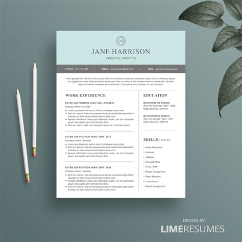 free modern templates modern resume template for microsoft word limeresumes