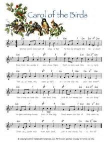 O Christmas Tree Lyrics For Kids - carol of the birds