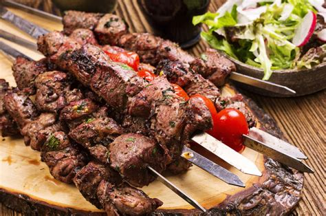 lamb shish kebab recipe marinated lamb kebabs marinated greek lamb souvlaki recipe skewers with pita