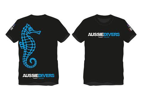 Kaos T Shirt Diver aussie divers t shirts aussie divers phuket