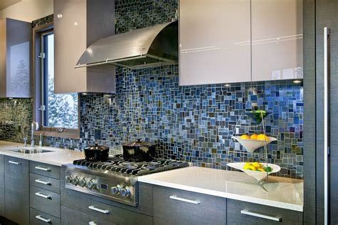 blue tile kitchen backsplash 18 gleaming mosaic kitchen backsplash designs