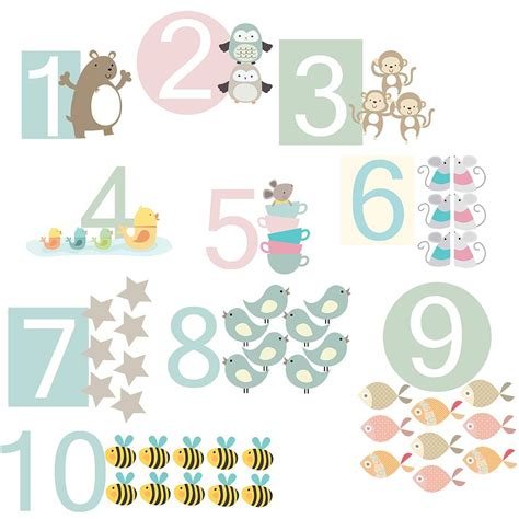 numbers wall stickers number fabric wall stickers by littleprints notonthehighstreet
