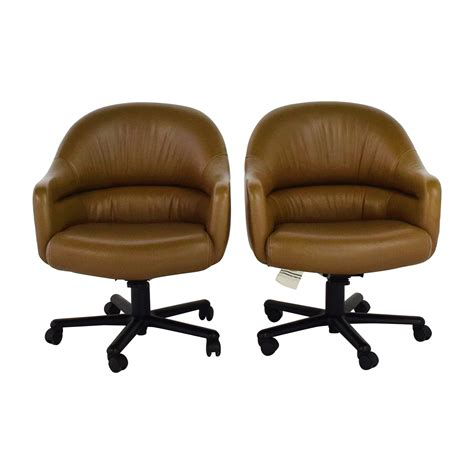 brown leather swivel chairs brown leather computer chair design ideas swivel leather