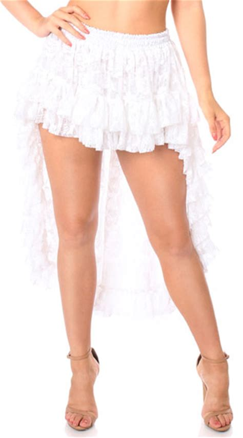 white high low lace skirt white lace skirt high low skirt