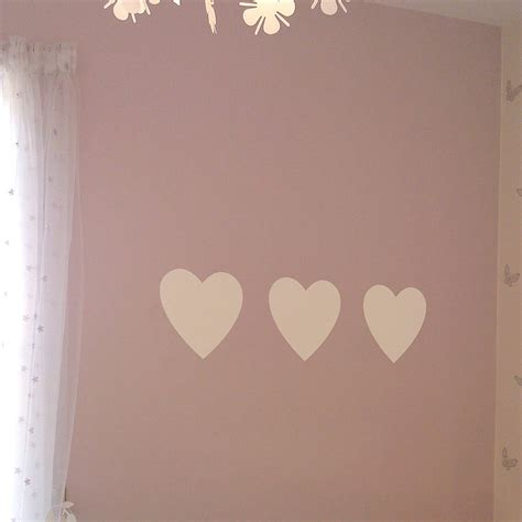 hearts wall stickers set of three hearts wall sticker by nutmeg notonthehighstreet