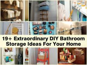 Storage Ideas Diy Diy Bathroom Homemade Storage Ideas