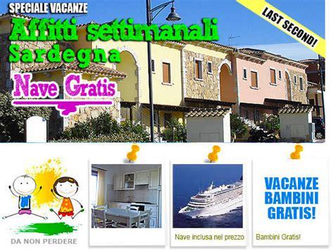 appartamenti affitto sardegna con nave gratis offerte olbia con bambini promozione nave gratis bambini