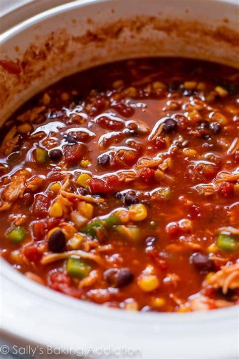 my favorite slow cooker chicken chili recipe sallys