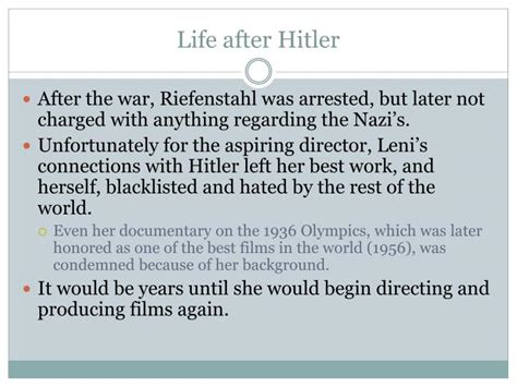 biography of hitler ppt ppt leni riefenstahl powerpoint presentation id 4704585