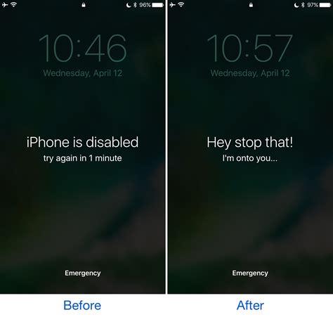 tweak customizes  iphone  disabled text