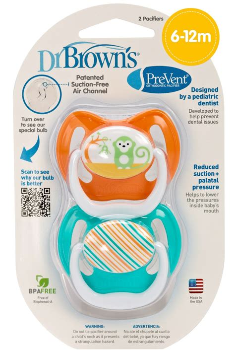 Dr Brown S Pacifier Stage 2 Giraffe Assorted Colors 2 Pack pacifiers accessories dr brown s prevent stage 2 pacifier 2 pack ships assorted