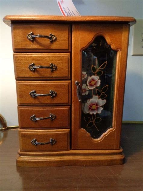 table top jewelry armoire jewelry box mini armoire chest table top wood mirror