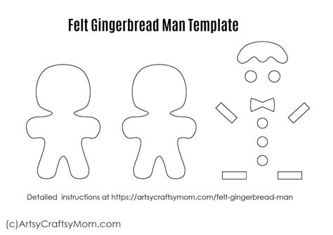 felt gingerbread template felt gingerbread ornament craft for