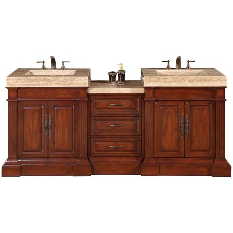 Silkroad Exclusive Stanton 83 Quot Double Bathroom Vanity Set Dual Bathroom Vanities