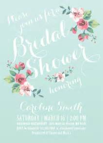 Floral Bridal Shower Invitations by Floral Bridal Shower Invitations Cloveranddot