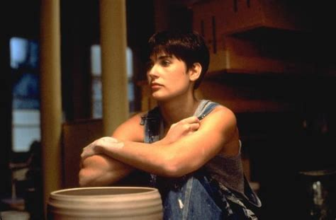 demi moore haircut in ghost the movie denim overalls are making a comeback as chic fashion